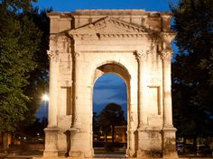 """Arco dei Gavi. This arch, built in white veronese marble and dedicated to the """"Gavia"""", an important Roman family, used to stand in the middle of Corso Castelvecchio. The French dismantled it as it was considered a hindrance to traffic and dumped the pieces under the arches of the arena. It was reassembled where it now stands, piece by piece, in 1932."""