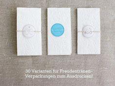 Bastelanleitung - 30 Freudentränen-Verpackungen zum Ausdrucken - ein Designerstück von diyhochzeit bei DaWanda
