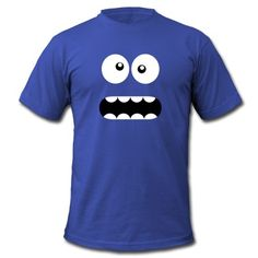 Tee shirt Drôle Cartoon Monster Face - Crazy / Smiley #cloth #cute #kids# #funny #hipster #nerd #geek #awesome #gift #shop  Cristabel Crop Top $12- BLACK