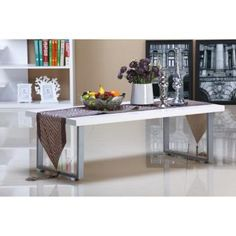 LUMIERE HIGH GLOSS COFFEE TABLE - WHITE APTLFCTS36