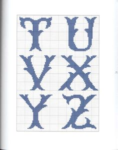Gallery.ru / Фото #2 - 668 - Yra3raza Cross Stitching, Cross Stitch Embroidery, Embroidery Patterns, Cross Stitch Alphabet Patterns, Cross Stitch Designs, Plastic Canvas Letters, Tapestry Crochet, Alphabet And Numbers, Loom Beading