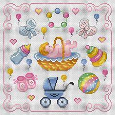 Download Free Cross Stitch Chart Pattern New Baby Cross Stitch