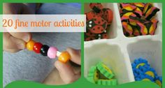 20 Fine Motor Activities for Kids {Stress-Free Sunday #11} - Fun-A-Day! Good.