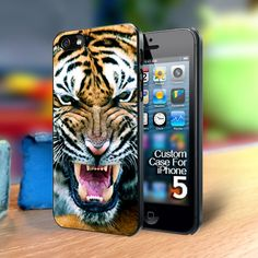 angry Tiger Iphone 5 case | TheYudiCase - Accessories on ArtFire