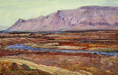 Johannes S. Kjarval: Mount Esja, Iceland. Signed Johannes S. Kjarval 1939. Oil on canvas. 86 x 132 cm.