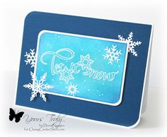 Quietfire Design, Let it snow, impression Obsession, Diana Nguyen, snowflake