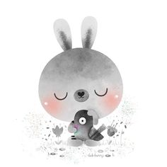 Pigeon Lover --  #illustration #ilustracion #characterdesign #birds #ornithology #pigeon #bunny #lulibunny