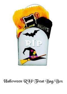 Halloween RIP Treat Bag/Box - Halloween Party Favors - Halloween Treat Bag - Printable Halloween Favors