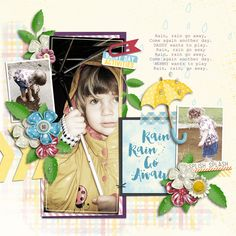 Page made by Akizo using After The Rain | Collection, Playing With Journal Cards #5 | Templates by Akizo Designs (Digital Scrapbooking layout)