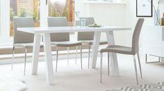 Modern Designer Dining Table in White Gloss