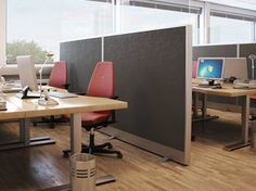 Sound absorbing glass wool workstation screen Akusto™ Screen A - Saint-Gobain ECOPHON