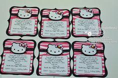 hello kitty birthday party zebra invitations #ilovehellokitty