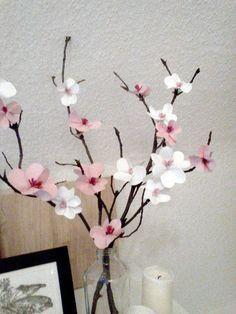 Papierblüten aus Post-its