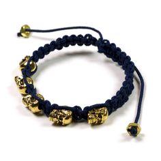 Skulls bracelet - an unexpected pop of hard rock