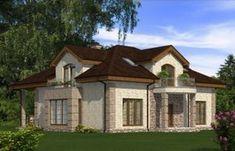 Дом с мансардой, террасой и балконами Rg5053 Вид1
