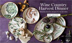 Harvest dinner tabletop from Williams Sonoma
