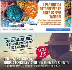 Nuove offerte e nuovi annunci Grimaldi Lines 2016 sia per il web che per quotidiani e riviste di settore. Agenzia di pubblicità a Napoli AT&ACME