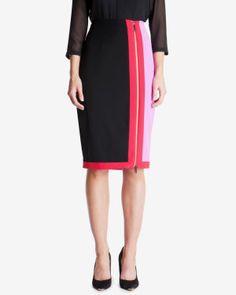 Colour block pencil skirt |Ted Baker