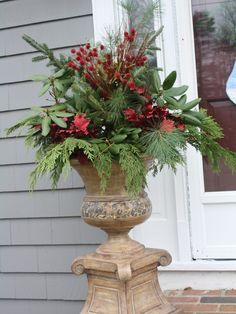 Christmas planter idea