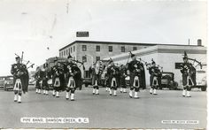 Pipe Band  Dawson Creek BC  Sept. 1954