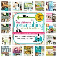 Ultimate Homemaking Ebook Bundle (97 E-Books).  This bundle is a $640 value for only $29.97 (95% off).  That's 30 cents per book! - A Bowl Full of Lemons
