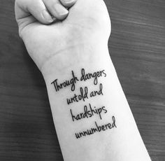 Quote on wrist
