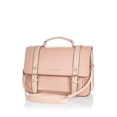 Pink large satchel #riverisland