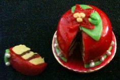 Christmas cake on plate