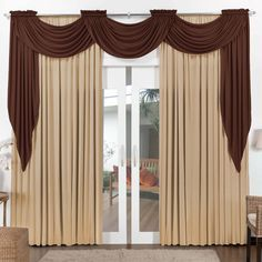 Trendy Kitchen Window Curtains With Blinds Valances 54 Ideas Curtains And Draperies, Elegant Curtains, Home Curtains, Beautiful Curtains, Modern Curtains, Sheer Drapes, Kitchen Window Treatments With Blinds, Kitchen Window Valances, Curtain Styles