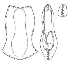 Fig. 8. Rawhide Shoe (bróg úírleathair). National Museum 1908 : 247. Aran Islands, Co. Galway.