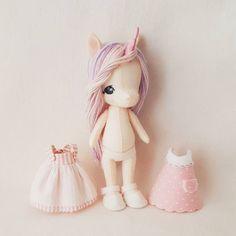 She's finally ready folks! I'll be releasing my newest Li'l Luvs Unicorn pattern later on tonight!!  #gingermelon #unicorn #feltunicorn #handmadedolls #handembroidery #dollmakers #handmade