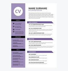 creative cv resume template yellow color design templates