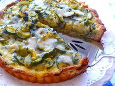 Zucchini Tart With Gruyere Cheese and Herbs