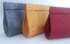 Bolsa em cartonagem forrada com tecido de algodão e fecho imã. Vários tecidos disponíveis. R$ 60,00