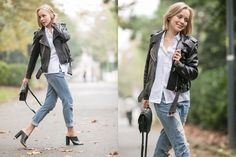 OUTFIT: ACNE MAPE LEATHER JACKET - THECABLOOK by Darya Kamalova