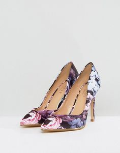2e13321afcec Lipsy Floral Pointed Court Shoe - Multi Court Shoes