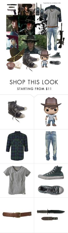 """Call Me Carl Papa"" by verysmallgoddess ❤ liked on Polyvore featuring Diesel, Funko, Topman, PRPS, Burt's Bees, Converse, RIFLE, men's fashion, menswear and cosplay"