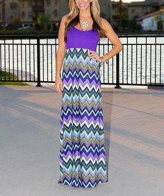 Love this Purple Chevron Mommy & Me Maxi Dress - Women on #zulily! #zulilyfinds