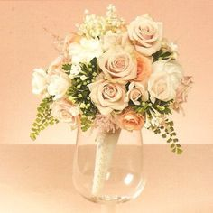 mauve, ivory and peach bouquet - Google Search