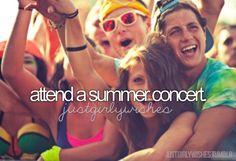 attend a summer concert