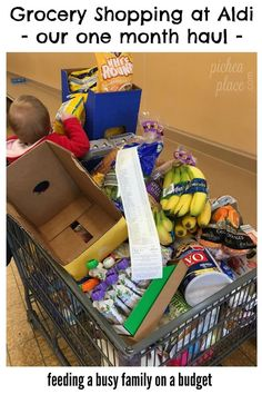 Monthly Aldi Shopping Trip | feeding a busy family on a budget