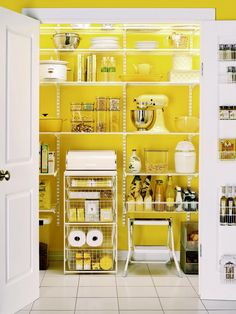 Pictures of Kitchen Pantry Options and Ideas for Efficient Storage | HGTV. PAINT THE INSIDE OF THE PANTRY. SPLENDID IDEA!