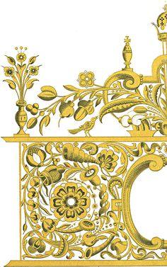 Орнаменты на памятниках древнерусского искусства Border Pattern, Border Design, Pattern Art, Ornaments Design, Vintage Ornaments, Baroque Pattern, Baroque Design, Arabesque, Stencil Painting On Walls