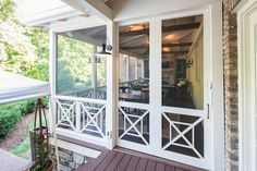 Back Porch Remodel Sliding Screen Doors New Ideas Porch Sliding Doors, Screened Porch Doors, Sliding Door Window Treatments, Porch Windows, Front Porch, Barn Doors, Back Porch Designs, Screened Porch Designs, Porch Railing Designs
