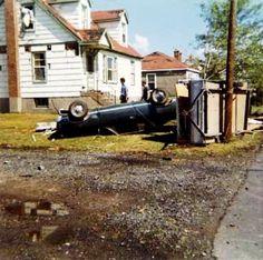 1970 Tornado effects in Lively ON near Sudbury - R. Orville Lyttle