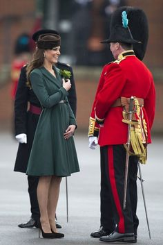 Kate--Receiving her shamrocks for St. Patrick's Day ceremony.