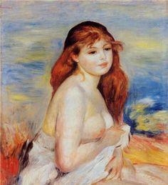 Bather - Pierre-Auguste Renoir