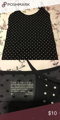 Polka Dot Tank from The Limited Stretchy. Fits more like a small. Tops Tank Tops