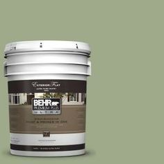 BEHR Premium Plus Ultra 5-gal. #PMD-36 Mountain Sage Flat Exterior Paint-485405 at The Home Depot