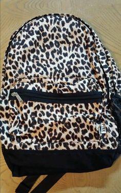 Victorias Secret PINK Campus Backpack Animal Print Bookbag Leopard SOLD OUT Awesome BackpacksBook BagsCheetah